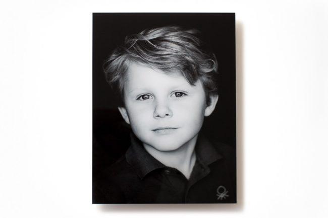 Acrylic print with boy portrait