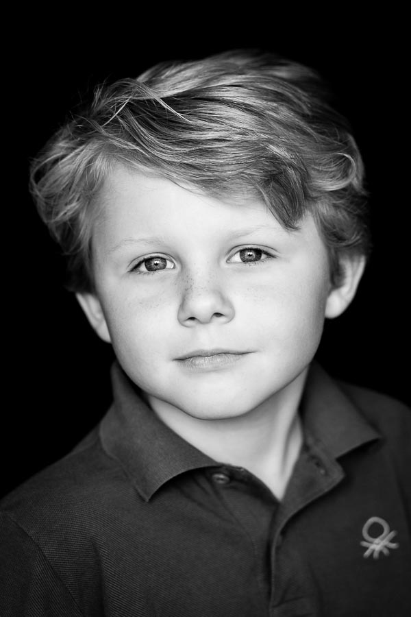 Low key portrait of young boy
