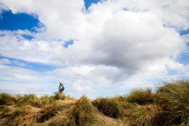 Kids on sand dunes
