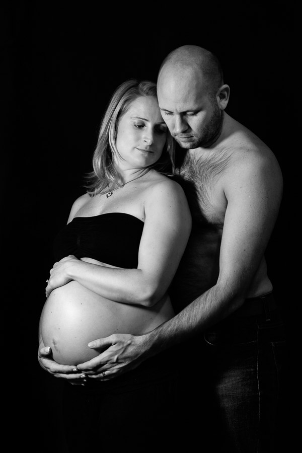 Low key couple maternity photo