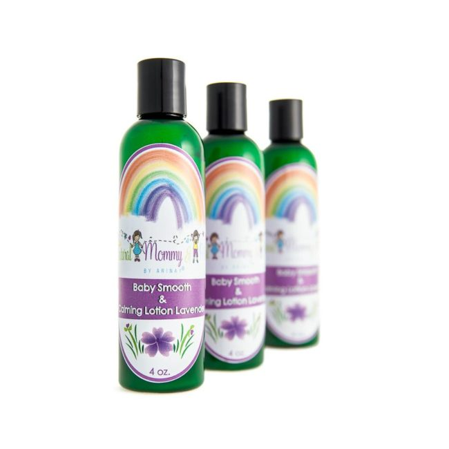 Artisan bottles with baby lotion