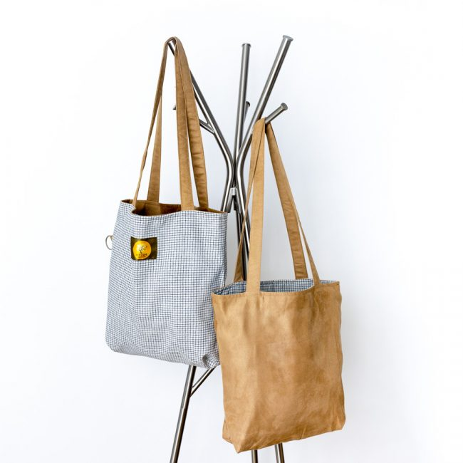 Recycled reversible shopping bags