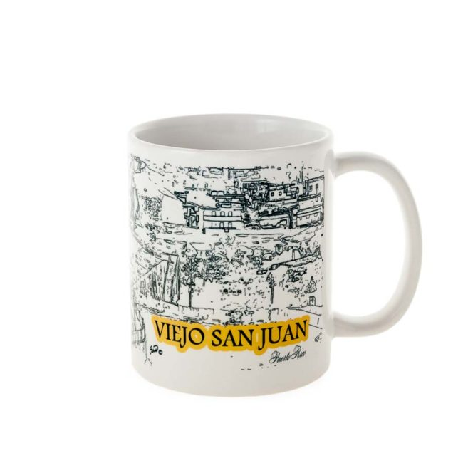 Mug with print of Old San Juan